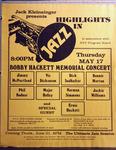 Highlights in Jazz Concert 053 - Bobby Hackett Memorial Concert
