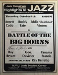 Highlights in Jazz Concert 055 - Battle of the Big Horns
