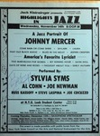 Highlights in Jazz Concert 096 - A Jazz Portrait of Johnny Mercer