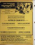 Highlights in Jazz Concert 114 - Jazz is My Passport