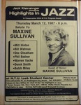 Highlights in Jazz Concert 116 - Salute to Maxine Sullivan