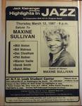 Highlights in Jazz Concert 116 - Salute to Maxine Sullivan