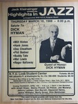 Highlights in Jazz Concert 124 - Salute to Dick Hyman