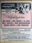 Highlights in Jazz Concert 127 - A Concert for Al Cohn