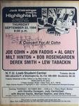 Highlights in Jazz Concert 127 - A Concert for Al Cohn