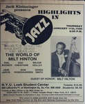 Highlights in Jazz Concert 138 - The World of Milt Hinton