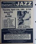 Highlights in Jazz Concert 149 - Salute to Slide Hampton