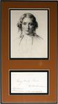 Harriet Beecher Stowe portrait and note