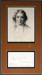 Harriet Beecher Stowe portrait and note