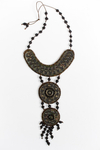 Hanging Medallion Necklace by Charles Moses Brown