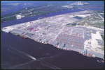 Aerial View of Blount Island, Jacksonville Florida. by Lawrence V. Smith