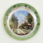 Plate: Main Street Decorative Souvenir Plate, Jacksonville, Florida; 1920-1930's