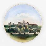 Plate: Hemming Park and Windsor Hotel Decorative Souvenir Plate, Jacksonville, Florida; 1900-1930's