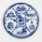 Plate: Jacksonville Sightseeing Souvenir Plate, Jacksonville, Florida; 1900-1920's