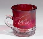 Cup: Glass Souvenir Cup, Jacksonville Exposition, Jacksonville, Florida; 1908