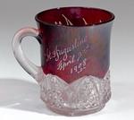Cup: Glass Souvenir Cup, St. Augustine, Florida; April 3, 1908