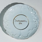 Plate: Souvenir Plate and pitcher stamped made in Germany, Jacksonville, Florida Circa 1900-1930