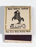 Matchbook: Hotel Andrew Jackson, Jacksonville, Florida.