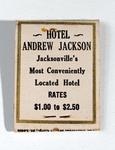 Matchbook: Hotel Andrew Jackson, Jacksonville, Florida