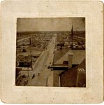 "Mounted Photograph: Burned Ariel of Jacksonville, Corner of Forsyth and Hogan"" , 1901"