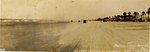 Photograph: Panoramic Photo captioned 100 cars can travel abreast on low-tide, Jacksonville Beach, Florida 1925