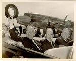 Photograph: Group of (3) photographs of President Truman Motorcade, Jacksonville, Florida; 1949