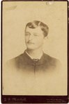 Mounted Photograph: Portrait of a man, JS Mitchell. Photographer Embossed on front, stamp on reverse, Jacksonville, Florida; 1870-1890