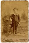 Mounted Photograph: Portrait of a Young Boy, Burgert Embossed on Front, Jacksonville, Florida; 1870-1890