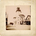 """Mounted Photograph: Courthouse """"US Courthouse and Post Office at Forsyth and Hogan, completed 1895"""