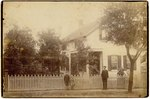 Mounted Photograph: Family in front of home in downtown Jacksonvile, J.S. Mitchell, Photographer stamped on reverse; Jacksonville, Florida 1900's