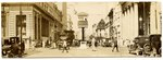 """Photograph: Panoramic photo labeled """"W. Forsyth St. Traffic Tower, Jacksonville, Florida; 1920's"""
