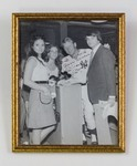 Framed Photograph: Group Photograph at Jacksonville Baseball Field Signed by Mickey Mantle, Jacksonville, Florida; 1972