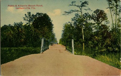 Postcard: Pablo and Atlantic Beach Road, Jacksonville, Florida