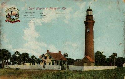 Postcard: Light House, Mayport, Fla