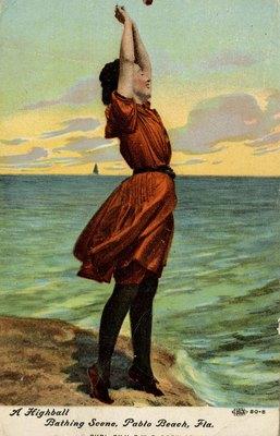 Postcard: A Highball Bathing Scene, Pablo Beach, Fla