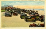 Postcard: An Every Day Line Up of Automobiles on the Beach at Pablo Beach, Fla.