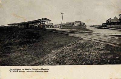 Postcard: The Depot at Pablo Beach, Florida; 1900-1924