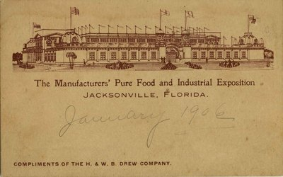 Postcard: The Manufacturers' Pure Food and Industrial Exposition, Jacksonville, Florida