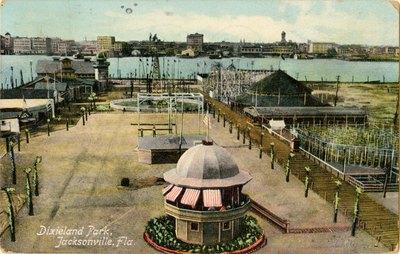 Postcard: Dixieland Park, Jacksonville, Florida
