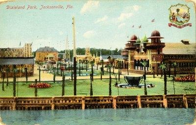 Postcard: Dixieland Park, Jacksonville, Fla