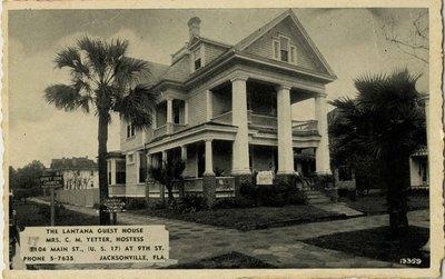 Postcard: The Lantana Guest House, Jacksonville, Florida