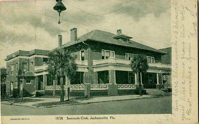 Postcard: Seminole Club, Jacksonville, Florida