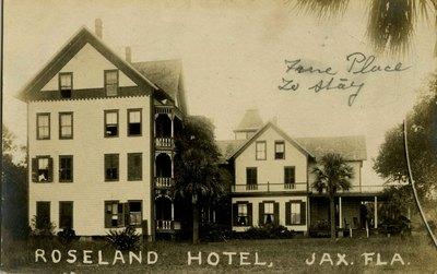 Postcard: Roseland Hotel, Jacksonville, Florida