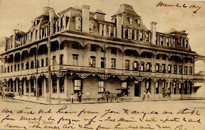 Postcard: Duval Hotel, Jacksonville, Florida
