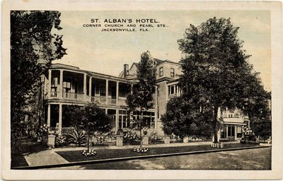 Postcard: St Alban's Hotel, Jacksonville, Florida; 1920's