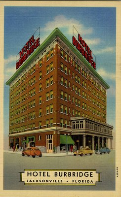 Postcard: Hotel Burbridge, Jacksonville, Florida; 1910's-1940's