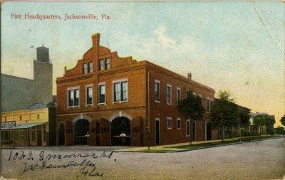 Postcard: Fire Headquarters, Jacksonville, Florida