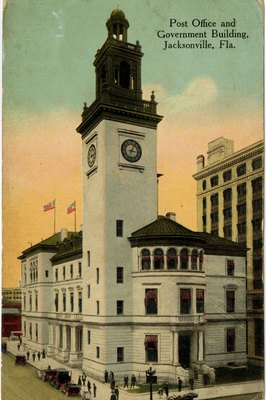 Postcard: Post Office and Government Building, Jacksonville, Florida