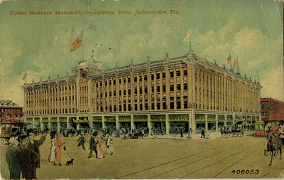 Postcard: Cohen Brothers' Mammoth Department Store, Jacksonville, Florida