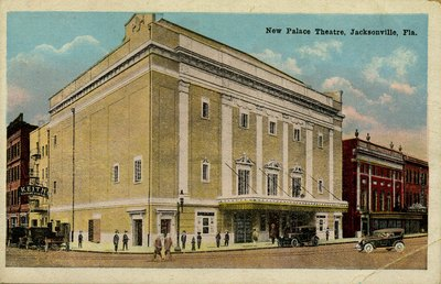 Postcard: New Palace Theatre, Jacksonville, Florida